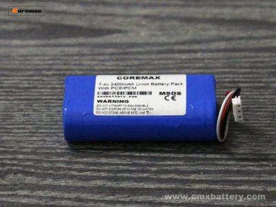 Li-ion battery 7.4v 2400mAh POS Battery Pack 2S Super high energy density