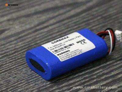 Li-ion battery 7.4v 2400mAh POS Battery Pack 2S Custom Battery pack