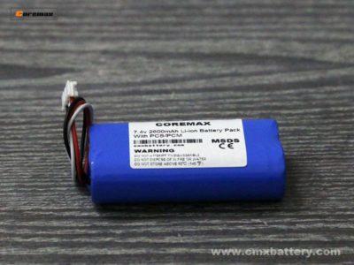 7.4v 2600mah li ion battery pack factory