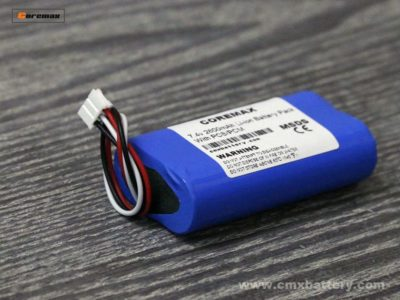 7.4v 2600mah battery pack made of 2s li ion18650 battery cell