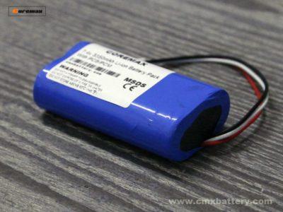 Rechargeable lithium ion battery 7.4v 3350mAh Li-ion battery pack made by 2pcs 3.7v li ion 3350mah battery cell