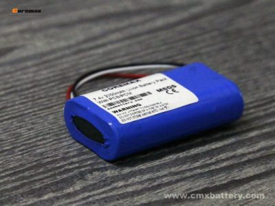 Rechargeable lithium ion battery 7.4v 3350mAh Li-ion battery pack made by 2pcs 3.7v li ion 3350mah battery cell1