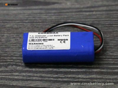 Rechargeable lithium ion battery 7.4v 3350mAh Li-ion battery pack made by 2pcs 3.7v li ion 3350mah battery cell custom made factory price