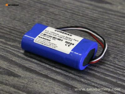 Lithium iron phosphate LiFePo4 6.4v 1500mAh 3.2v IFR18650 2S 1P battery