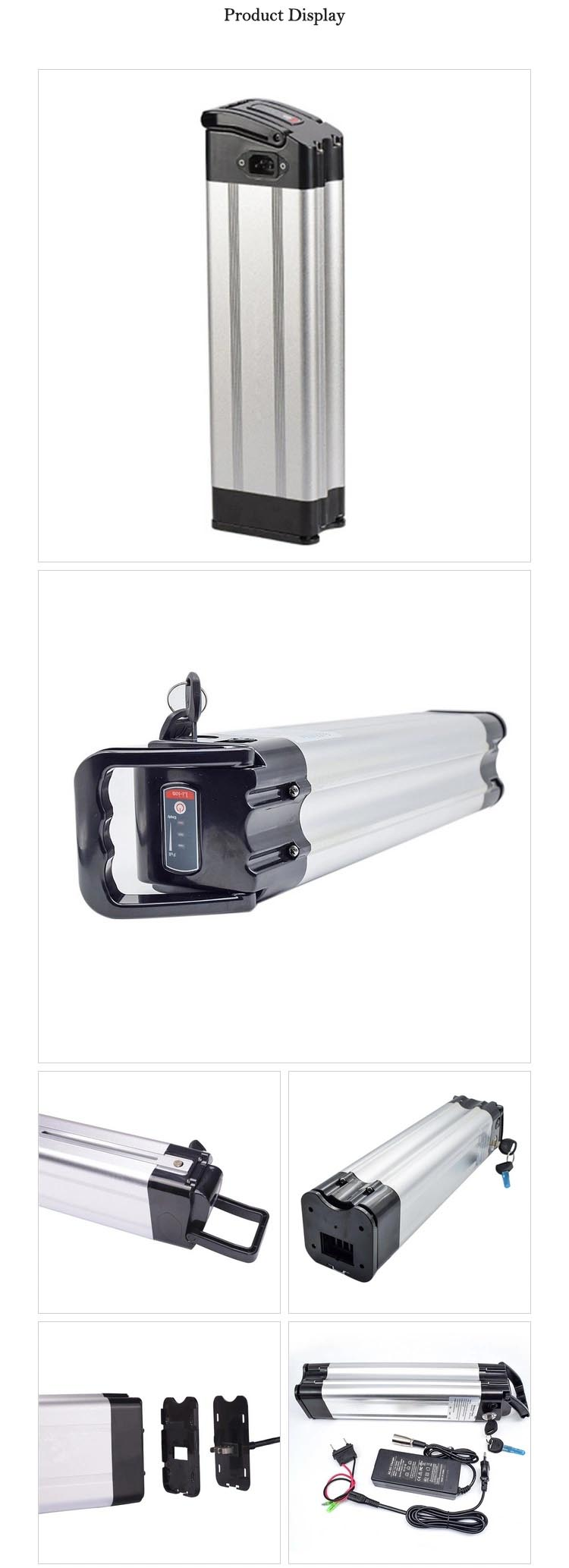silver fish li ion e bike battery 36v 10ah pack