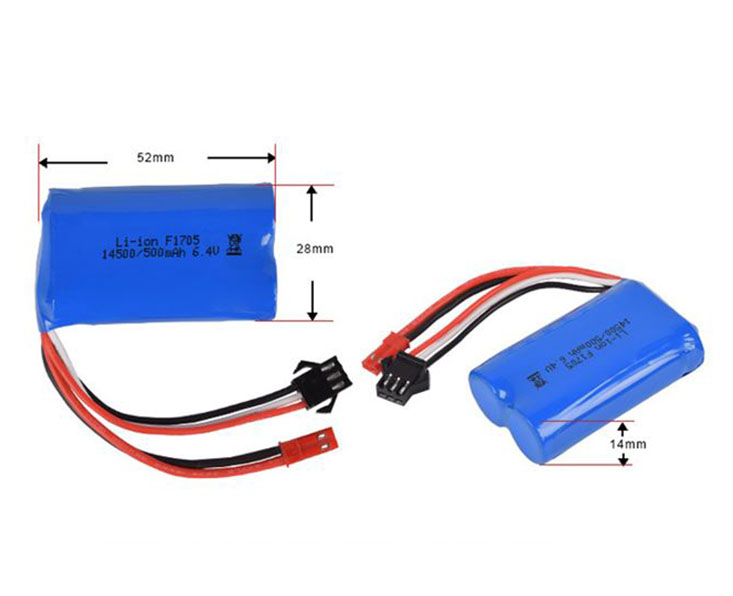 IFR14500-2S LiFePO4 Battery Pack