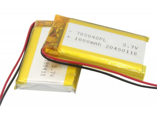 3.7V 1000mAh Battery Cell LIPO with PCB