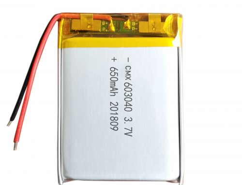 3.7 v 650mah lipo battery