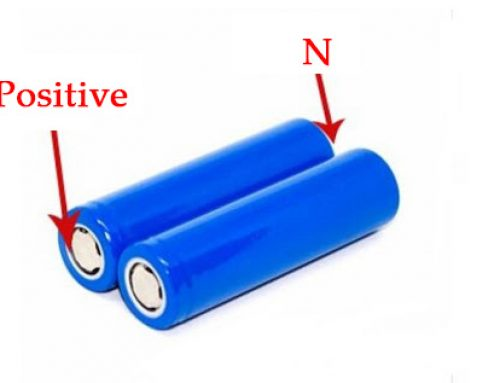 18650 battery which side is positive and negative